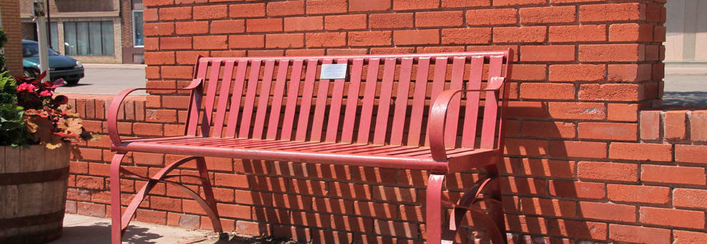 Pedestrian Rest Benches Yorkton Business Improvement District